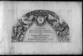 """Cover of """"Galeria dipinta nel palazzo del Prencipe Panfilio da Pietro Berrettini da Cortona /"""""""