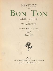 Cover of- Gazette du bon ton