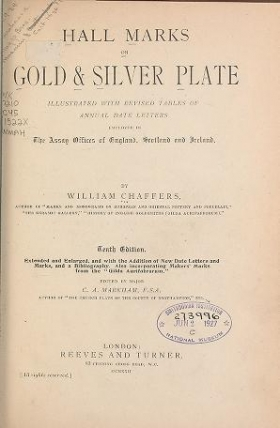 """Cover of """"Hall marks on gold & silver plate,"""""""
