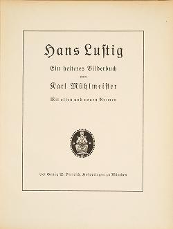 "Cover of ""Hans Lustig"""