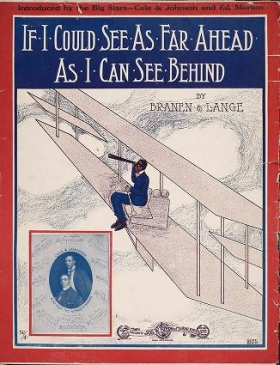 """Cover of """"If I could see as far ahead as I can see behind /"""""""