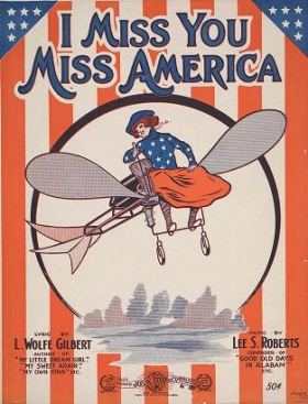 """Cover of """"I miss you Miss America /"""""""