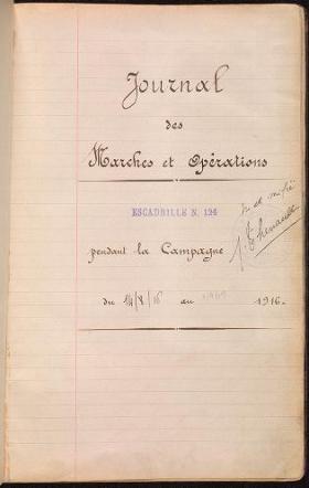 """Cover of """"Journal des marches et opérations pendant la campagne du 14/8/16 au 9/9/17"""""""