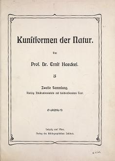 """Cover of """"Kunstformen der Natur /"""""""