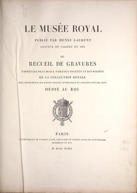 """Cover of """"Le Musée royal"""""""