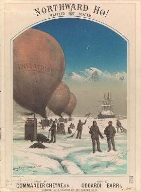"Cover of ""Northward ho!, or, Baffled, not beaten /"""