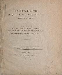 """Cover of """"Observationum botanicarum fasciculus primus"""""""