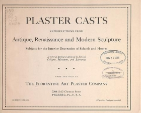 "Cover of ""Plaster casts"""