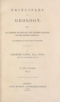 "Cover of ""Principles of geology : being an attempt to explain the former changes of the earth's surface, by reference to causes now in operation /"""