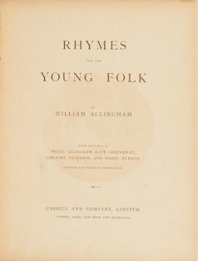 """Cover of """"Rhymes for the young folk"""""""