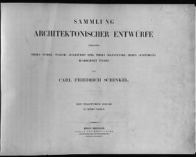 """Cover of """"Sammlung architektonischer Entwürfe"""""""