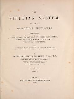 """Cover of """"The Silurian system, founded on geological researches in the counties of Salop, Hereford, Radnor, Montgomery, Caermarthen, Brecon, Pembroke, Monmouth,"""""""