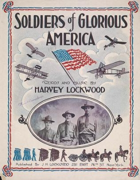 """Cover of """"Soldiers of glorious America /"""""""