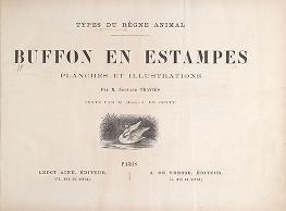 "Cover of ""Types du règne animal. Buffon en estampes /"""
