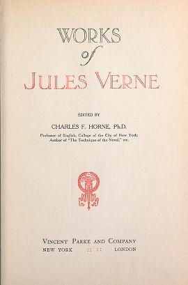 "Cover of ""Works of Jules Verne"""
