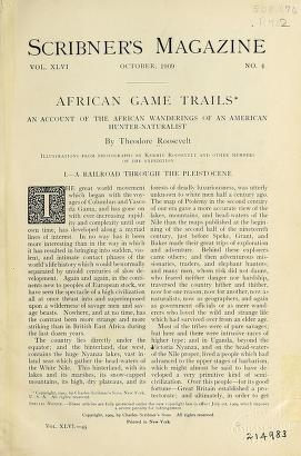 """Cover of """"African game trails"""""""