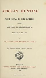 """Cover of """"African hunting, from Natal to the Zambesi"""""""