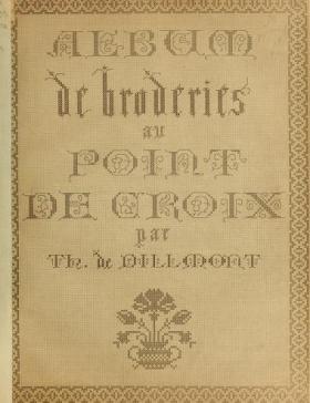 """Cover of """"Album de broderies au point de croix"""""""