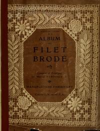"""Cover of """"Album de filet brodé /"""""""