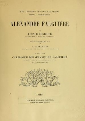 "Cover of ""Alexandre Falguière"""