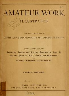 """Cover of """"Amateur work, illustrated"""""""