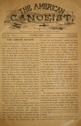 """Cover of """"The American canoeist"""""""