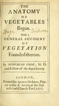 "Cover of ""The anatomy of vegetables begun : with a general account of vegetation founded thereon /"""