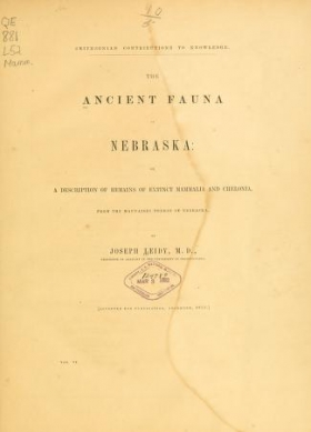 "Cover of ""The ancient fauna of Nebraska"""