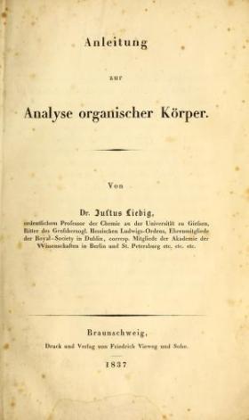 "Cover of ""Anleitung zur Analyse organischer Körper /"""