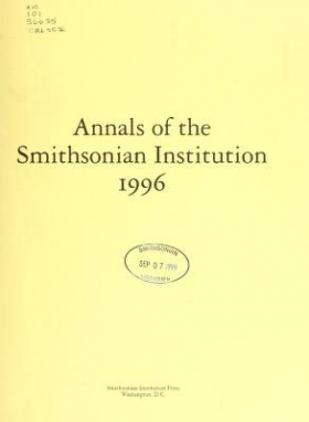 "Cover of ""Annals of the Smithsonian Institution"""