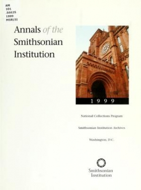 """Cover of """"Annals of the Smithsonian Institution"""""""