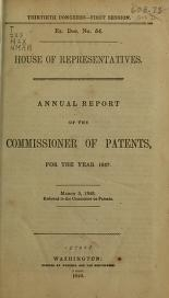 "Cover of ""Annual report of the Commissioner of Patents"""