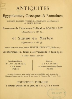 "Cover of ""Antiquités égyptiennes, grecques & romaines"""