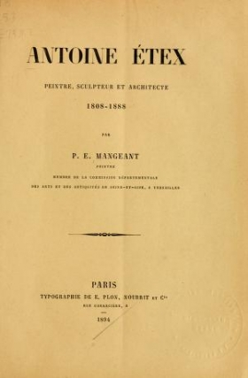 "Cover of ""Antoine Etex peintre, sculpteur et architecte, 1808-1888"""