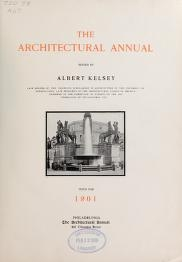 "Cover of ""The architectural annual /"""