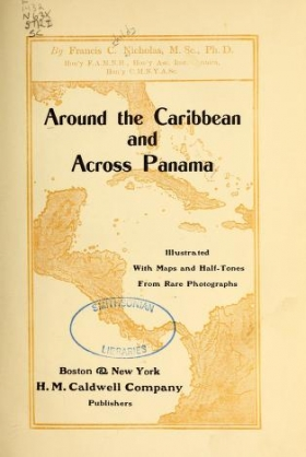 """Cover of """"Around the Caribbean and across Panama"""""""