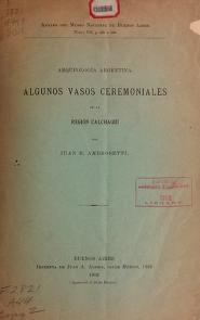 """Cover of """"Arqueología argentina"""""""