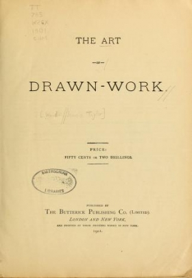 "Cover of ""The art of drawn work"""