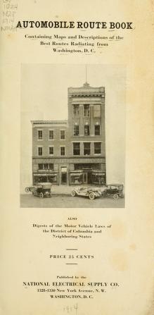 "Cover of ""Automobile route book"""