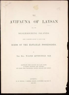 "Cover of ""The avifauna of Laysan and the neighbouring islands"""