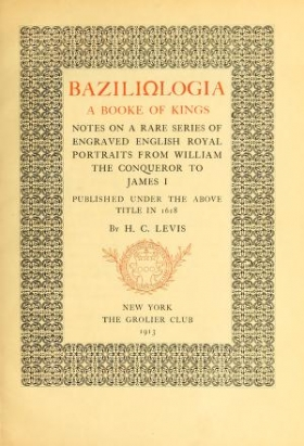 "Cover of ""Baziliologia, a booke of kings"""