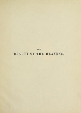 "Cover of ""The beauty of the heavens"""