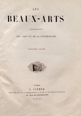 Cover of Les Beaux-Arts