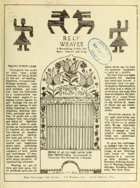 """Cover of """"Belt folio"""""""