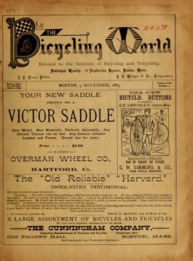 "Cover of ""The bicycling world"""