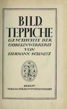 """Cover of """"Bildteppiche"""""""