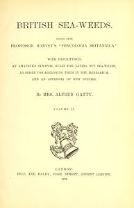 "Cover of ""British sea-weeds : drawn from Professor Harvey's ""Phycologia Britannica"" ... /"""