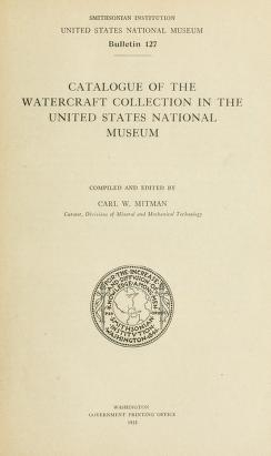 "Cover of ""Bulletin - United States National Museum"""
