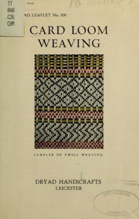 "Cover of ""Card loom weaving"""