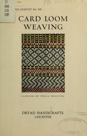 "Cover of ""Card loom weaving"""